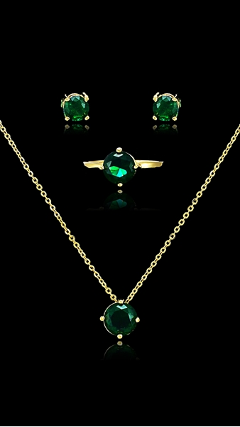 Picture of Cheaper Cubic Zirconia Luxury 3 Pieces Jewelry Sets