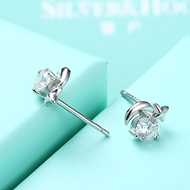 Picture of Cost Effective White Platinum Plated Stud