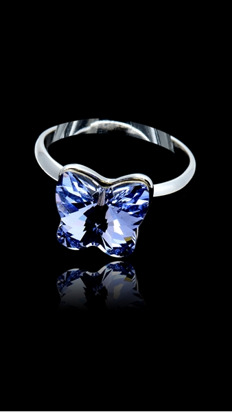 Picture of Best-Selling Purple Platinum Plated Fashion Rings