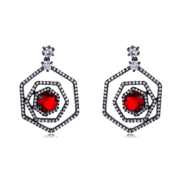 Picture of New Arrival Red Luxury Drop & Dangle