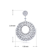 Picture of Fashionable Cubic Zirconia Daily Drop & Dangle