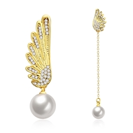 Show details for  Artificial Pearl Cute Dangle Earrings 3LK053762E