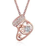 Show details for  Small Cubic Zirconia Pendant Necklaces 3LK053768N