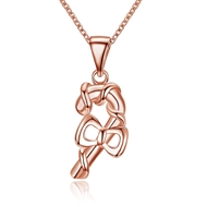 Show details for  Simple Copper Or Brass Pendant Necklaces 3LK053798N
