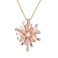 Show details for  Small Cubic Zirconia Pendant Necklaces 3LK053804N
