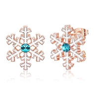 Show details for  Snowflake Simple Stud Earrings 3LK053858E