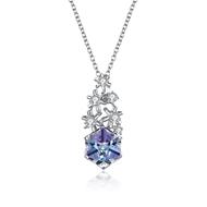 Show details for 925 Sterling Silver Swarovski Element Pendant Necklaces 3LK054356N