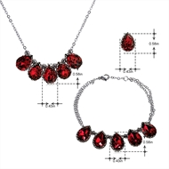 Picture of Recommended Platinum Plated 16 Inch 3 Piece Jewelry Set from Top Designer