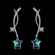 Picture of Trendy Platinum Plated Casual Drop & Dangle Earrings with No-Risk Refund