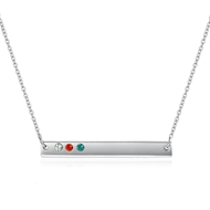 Picture of Great Value Colorful Platinum Plated Short Chain Necklace with Full Guarantee
