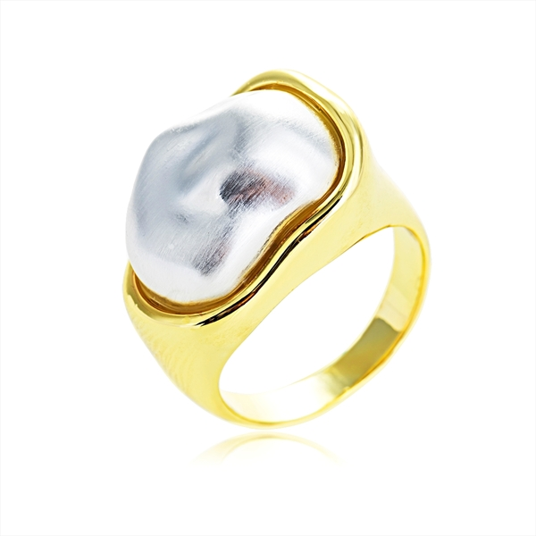 Picture of Eye-Catching Multi-tone Plated Zinc Alloy Fashion Ring