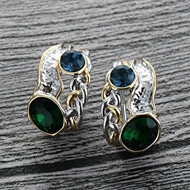 Picture of Low Cost Multi-tone Plated Zinc Alloy Stud Earrings with Low Cost