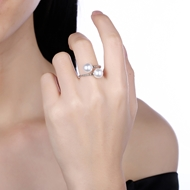 Picture of Best Artificial Pearl Casual Adjustable Ring