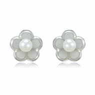 Picture of Well Produced Floral Venetian Pearl Stud