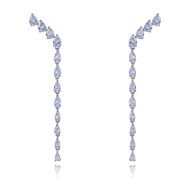 Picture of Great Cubic Zirconia Casual Dangle Earrings