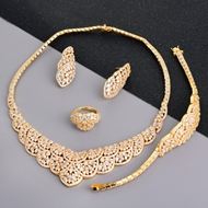 Picture of Stylish Big Copper or Brass 4 Piece Jewelry Set
