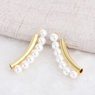 Picture of Classic Gold Plated Stud Earrings of Original Design