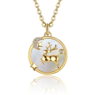 Show details for Copper or Brass Gold Plated Pendant Necklace with Unbeatable Quality