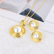 Picture of Pretty Casual Gold Plated Necklace and Earring Set