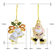 Picture of Trendy Gold Plated Cubic Zirconia Dangle Earrings with No-Risk Refund