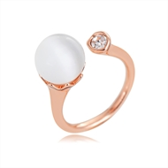 Picture of Beautiful Opal Rose Gold Plated Fashion Ring