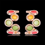 Picture of Zinc Alloy Enamel Hoop Earrings with Speedy Delivery
