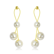 Picture of Delicate Artificial Pearl Dangle Earrings with Speedy Delivery