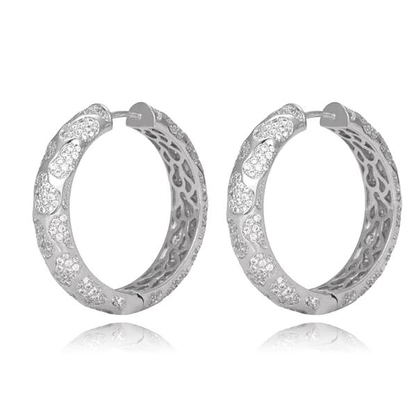 Picture of Great Cubic Zirconia Luxury Big Hoop Earrings