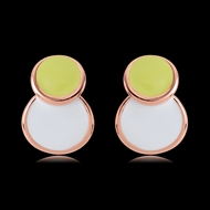 Picture of Classic Enamel Stud Earrings with Beautiful Craftmanship