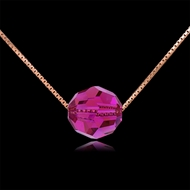 Picture of Nickel Free Rose Gold Plated Pink Pendant Necklace
