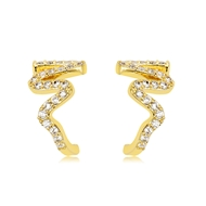 Picture of Nice Cubic Zirconia Gold Plated Stud Earrings
