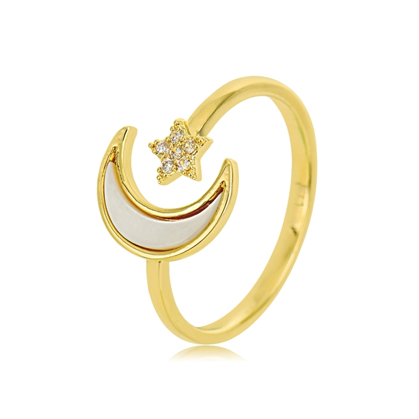 Picture of Delicate Gold Plated Adjustable Ring with Fast Delivery