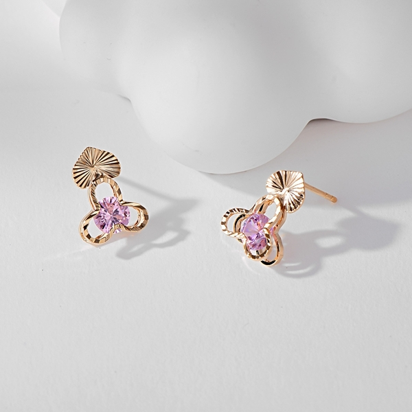Picture of Delicate Cubic Zirconia Stud Earrings with Fast Shipping