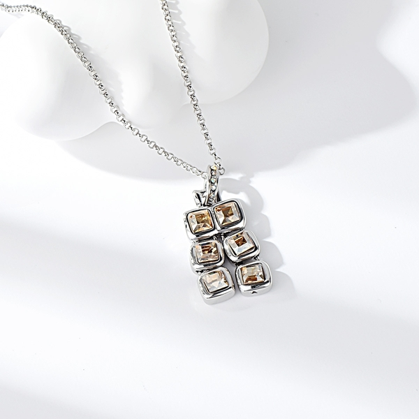 Picture of Zinc Alloy Platinum Plated Pendant Necklace from Certified Factory