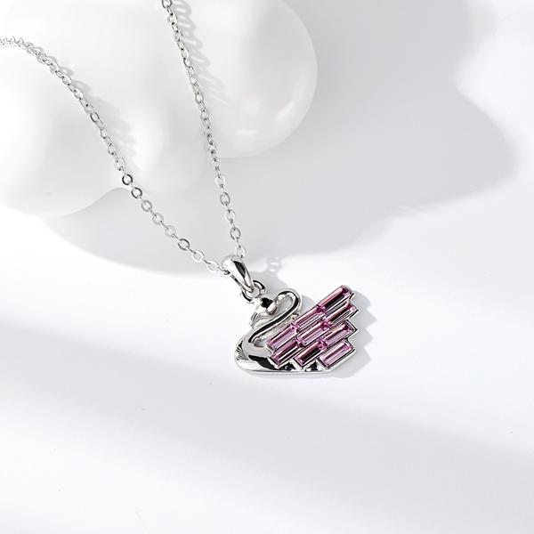 Picture of Popular Swarovski Element Platinum Plated Pendant Necklace