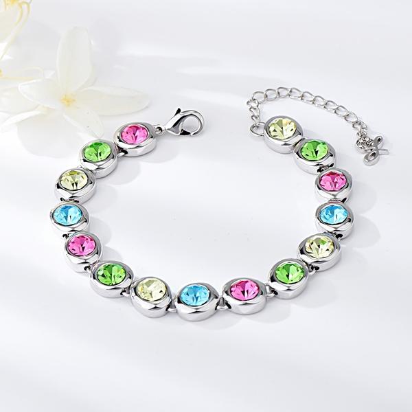Picture of Amazing Swarovski Element Colorful Fashion Bracelet