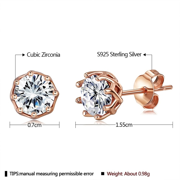 Picture of Small 925 Sterling Silver Stud Earrings with Beautiful Craftmanship