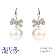 Picture of Luxury Platinum Plated Dangle Earrings with Fast Delivery