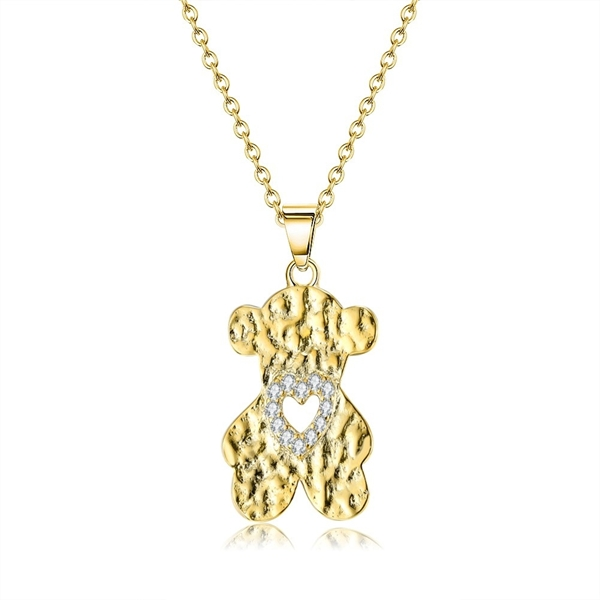 Picture of Trendy Gold Plated White Pendant Necklace with No-Risk Refund