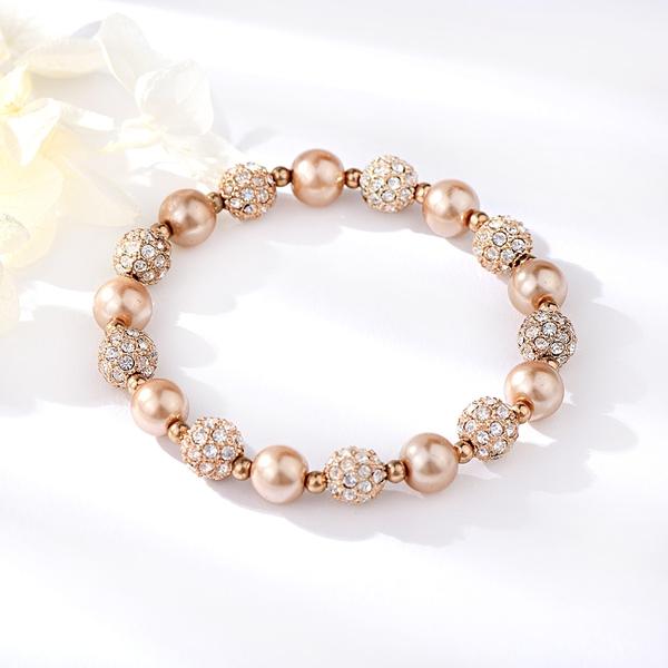 Picture of Fancy Small Zinc Alloy Beaded Bracelet